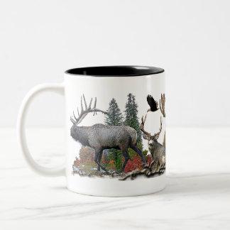 North American big game Two-Tone Coffee Mug