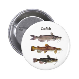 North American Catfish Logo 6 Cm Round Badge