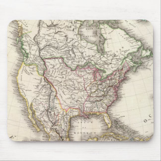 North American Engraved Map Mouse Mat