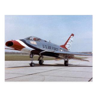 NORTH AMERICAN F-100D Super Sabre USAF THUNDERBIRD Postcard