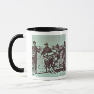 North American gold diggers, c.1849 (b/w photo) Mug