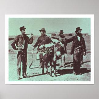 North American gold diggers c 1849 b w photo Print