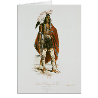 North American Indian Greeting Card