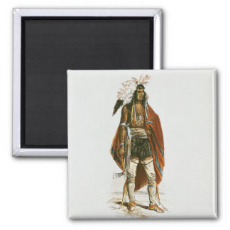 North American Indian Square Magnet