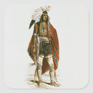 North American Indian Square Sticker