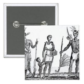 North American Indians 15 Cm Square Badge