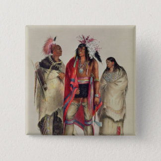 North American Indians, c.1832 15 Cm Square Badge