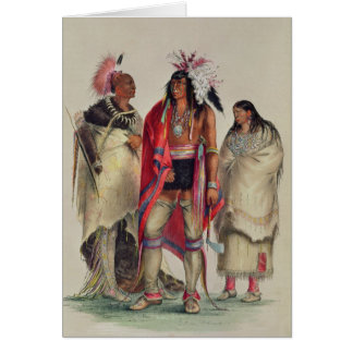 North American Indians, c.1832 Card