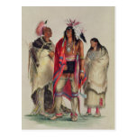 North American Indians, c.1832 Post Card