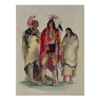 North American Indians, c.1832 Poster