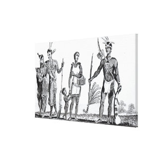 North American Indians Stretched Canvas Print