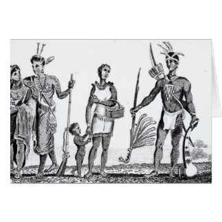 North American Indians Card