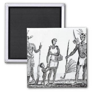 North American Indians Fridge Magnet