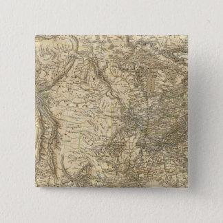 North American Map 15 Cm Square Badge