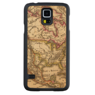 North American Map 2 Carved Maple Galaxy S5 Case