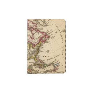 North American Map 2 Passport Holder