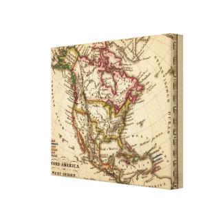 North American Map Canvas Print