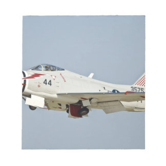 North American Naval FJ2 Fury Jet Fighter flying Notepad