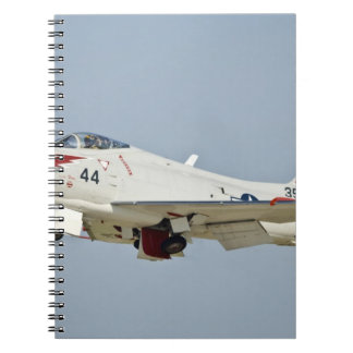 North American Naval FJ2 Fury Jet Fighter flying Spiral Notebook