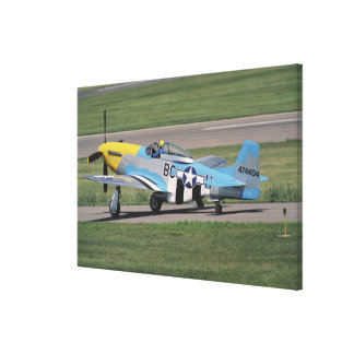North American P-51 D Dazzling Donna on the Canvas Prints