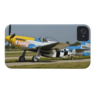 North American P-51 D Stang on the runway Case-Mate iPhone 4 Cases