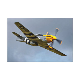 North American P-51D Mustang 'Ferocious Frankie' Canvas Print