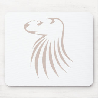 North American River Otter in Swish Drawing Style Mouse Mat