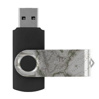 North American Rivers and Mountains USB Flash Drive