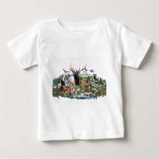North American Wildlife Baby T-Shirt