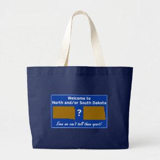 North and/or South Dakota Jumbo Tote Bag