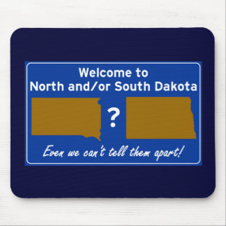 North and/or South Dakota Mouse Pad