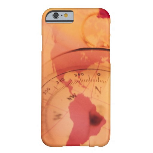 North and south america map with compass iPhone 6 case
