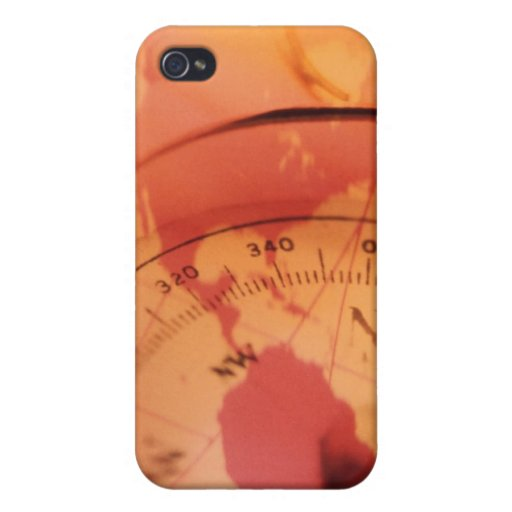 North and south america map with compass iPhone 4/4S case