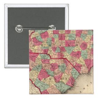 North and South Carolina 15 Cm Square Badge