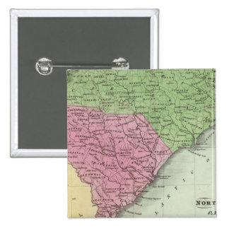 North and South Carolina 2 15 Cm Square Badge