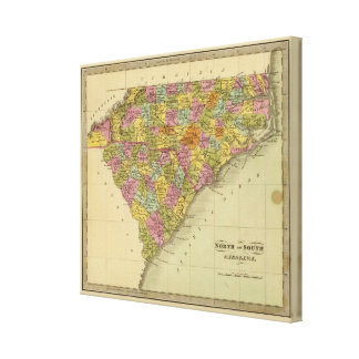 North and South Carolina 2 Canvas Print