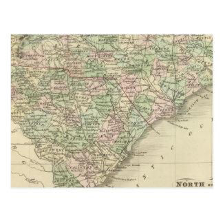 North and South Carolina 3 Postcard