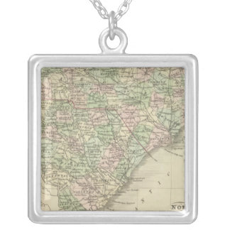 North and South Carolina 3 Silver Plated Necklace