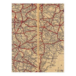 North and South Carolina 4 Postcard