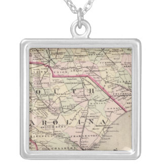 North and South Carolina 4 Silver Plated Necklace
