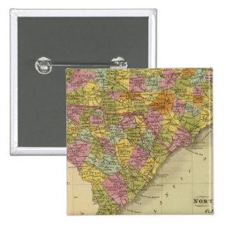 North and South Carolina 5 15 Cm Square Badge