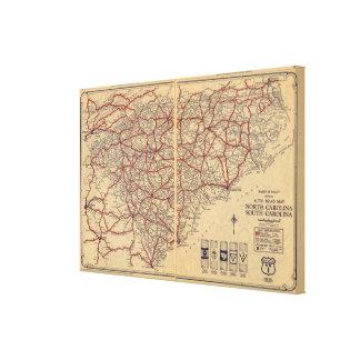 North and South Carolina 6 Canvas Print