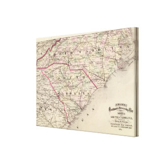 North and South Carolina Canvas Print
