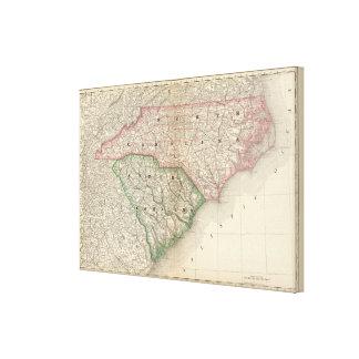 North and South Carolina Canvas Print