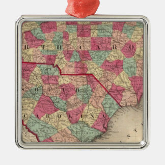 North and South Carolina Christmas Ornament