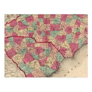 North and South Carolina Postcard