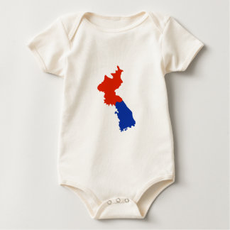 NORTH AND SOUTH KOREA BABY BODYSUIT
