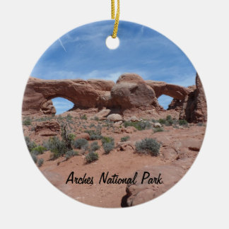 North and South Windows- Arches National Park Christmas Ornament
