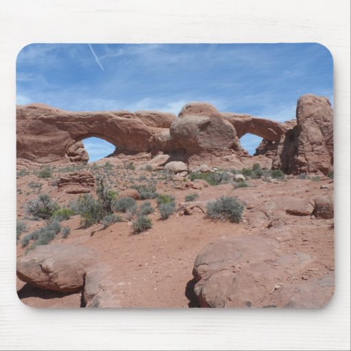 North and South Windows- Arches National Park Mousepads