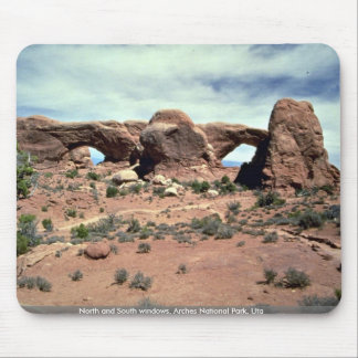North and South windows Arches National Park Uta Mouse Pads